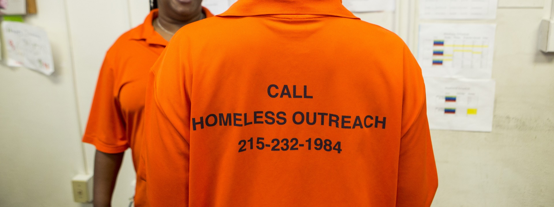 Outreach workers from the Outreach Coordination Center