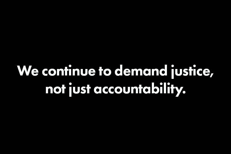 Accountability Is Not Justice