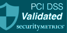 PCI and DSS validated logo